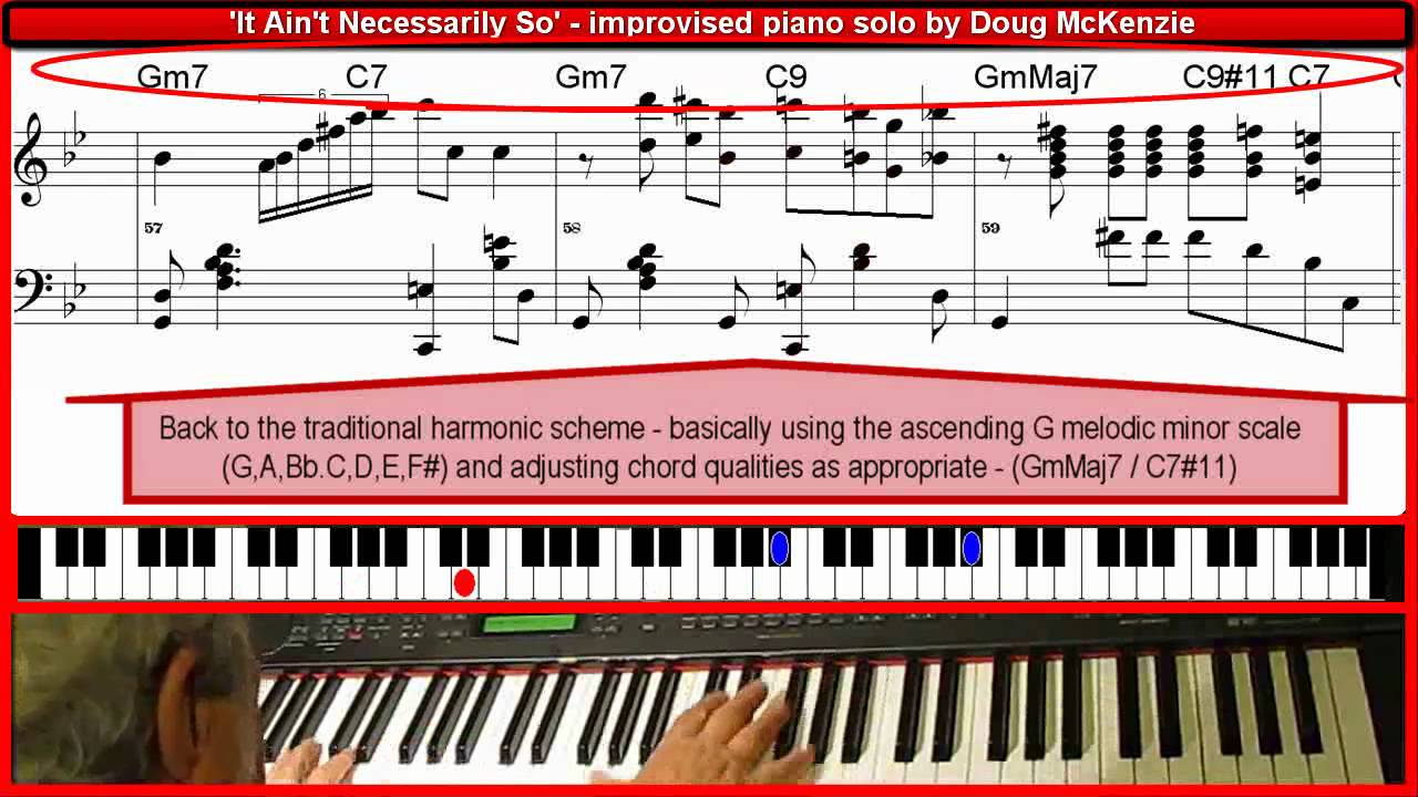 It Aint Necessarily So Improvised Piano Solo By Doug