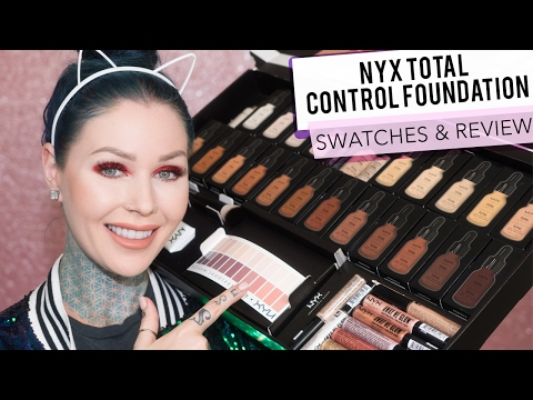 New Affordable NYX Cosmetics Total Control Foundation Review & Application | KristenLeanneStyle