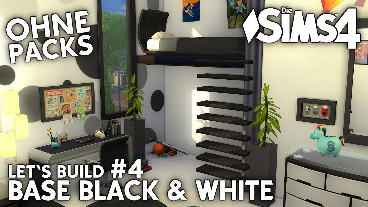 Die Sims 4 Haus Bauen Ohne Packs Base Black White 4