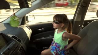 "Аришка в машине поет песни  ""мокрая девочка танцует"" , ""котик - а.Рыбака"""