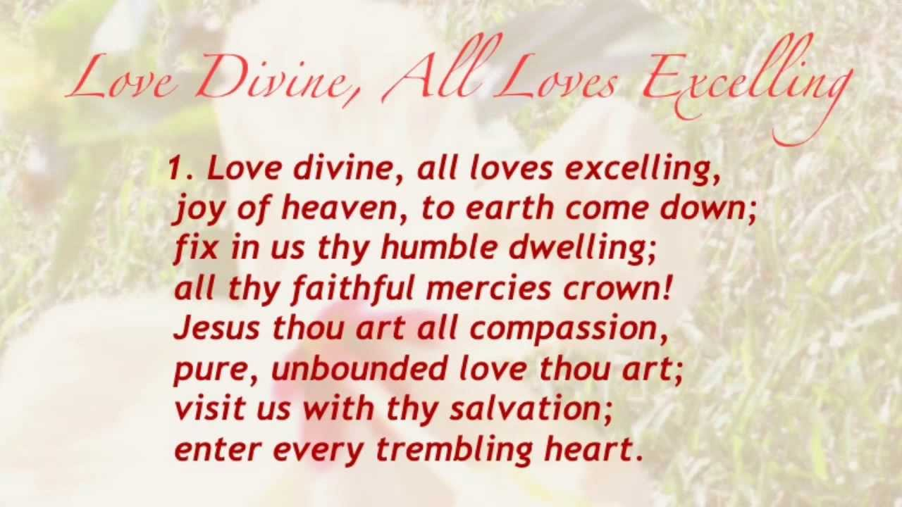 love divine all loves excelling united methodist hymnal  love divine all loves excelling united methodist hymnal 384