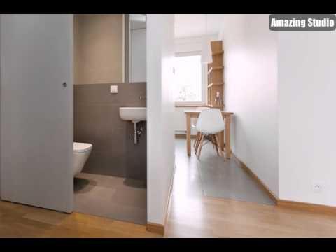 Schiebetür Badezimmer Tür - YouTube