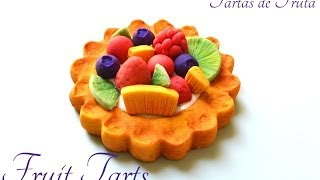 Fruit Tarts Polymer Clay/ Cold Porcelain Tutorial | Tarta De Frutas Porcelana Fría