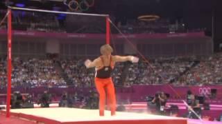 Turnen heren OS 2012 Epke Zonderland op rek 'staat' en wint goud 10171 B