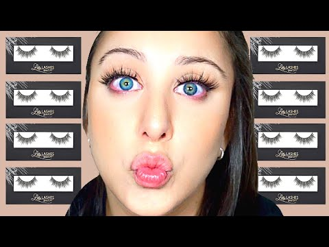 Attempting To Apply LILLY LASHES MIAMI for the first time thumbnail