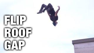 INSANE FLIP OVER ROOF GAP (Parkour + Gopro + dubs)