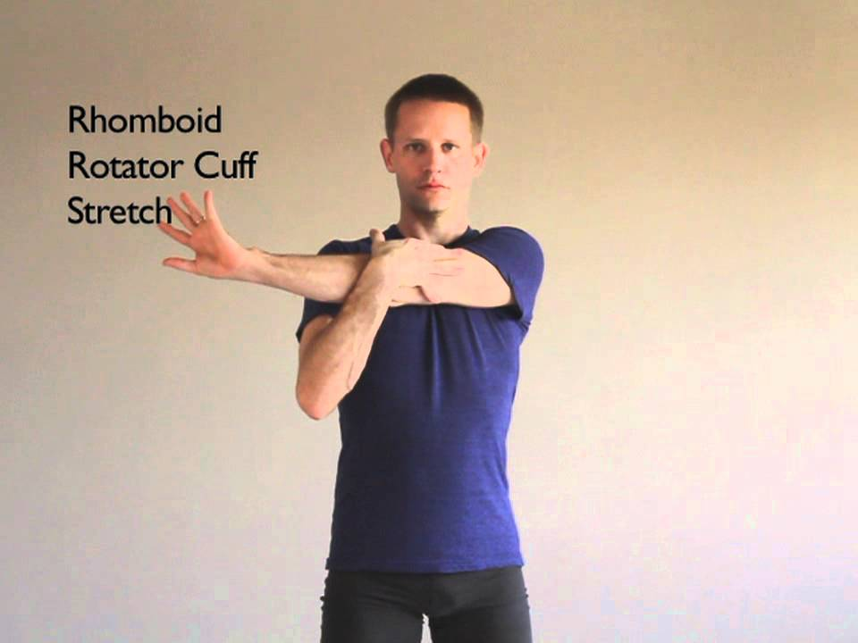 Rhomboid rotator cuff trapezius stretch active isolated stretching