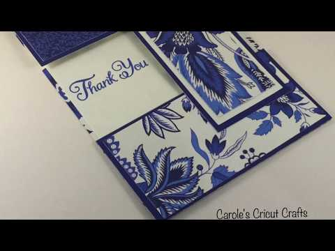 A Thank You Card w/Anna Griffin Toile Heritage Deluxe Paper by Cricut