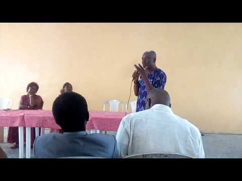 Dr. Yomi Mate Ifankalleyah defending FIBAN Interest at Radio Lagos meeting