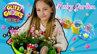 How To Make A Fairy Garden | Glitzy Globes Display Diy Craft Surprise Eggs Fairies | Plptv