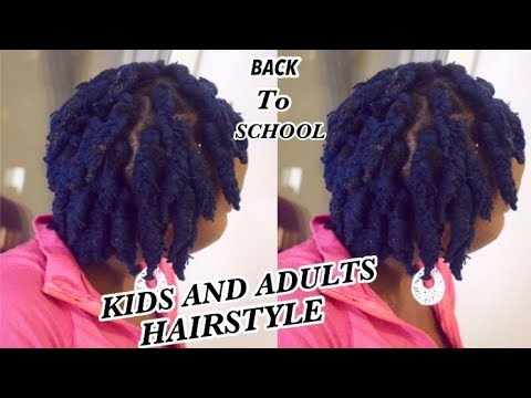 DIY EASY SHORT BRAIDS WITH YARNWOOL Protective Hair