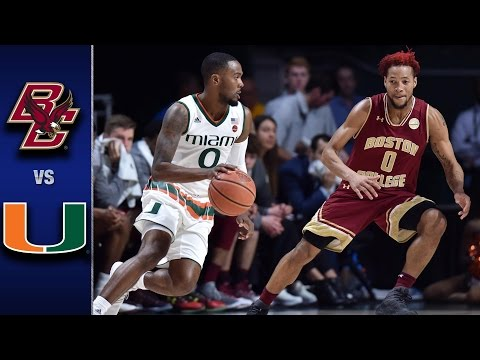 Boston College vs. Miami Men