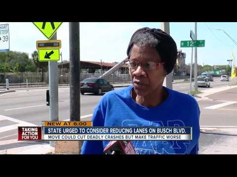 Local transportation leaders urge FDOT to consider reducing lanes on E. Busch Blvd.