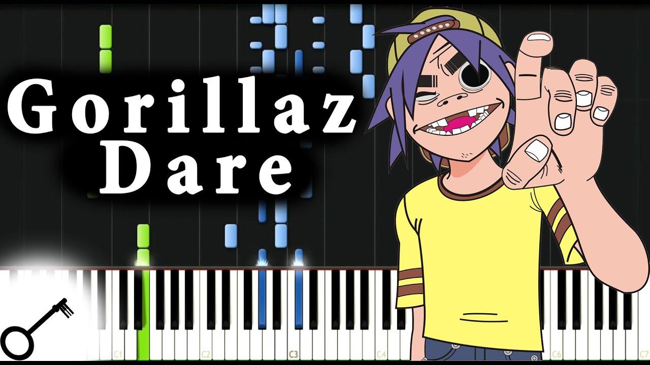 Gorillaz - Dare [Piano Tutorial] Synthesia   passkeypiano