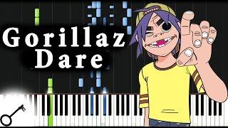 Gorillaz - Dare [Piano Tutorial] Synthesia | passkeypiano