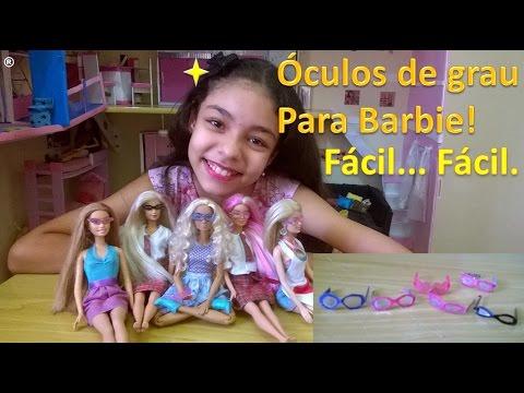 19f1c97d0 Como fazer óculos de grau para Barbie - YouTube