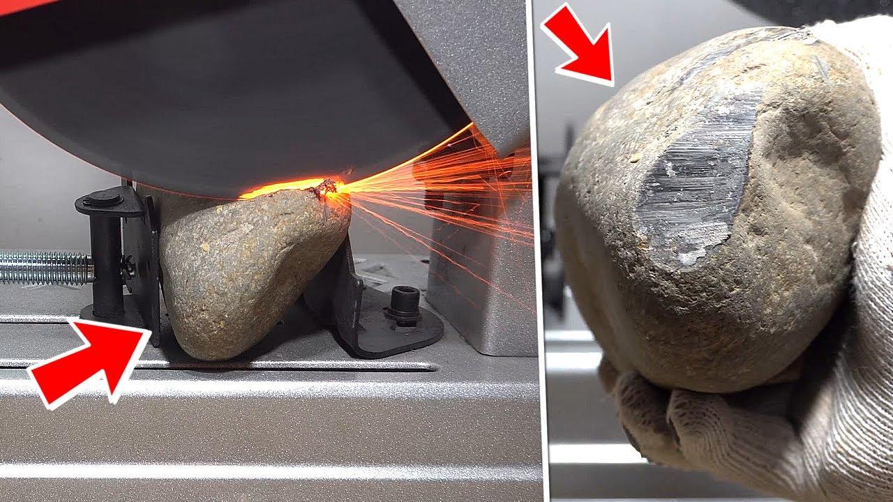 TE SORPRENDERÁ LO DURA QUE ES UNA PIEDRA - Cortando Piedras con la Sierra - Experimento