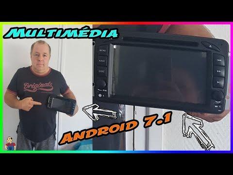Installation  Multimédia Lecteur GPS Android 7.1.Din DVD