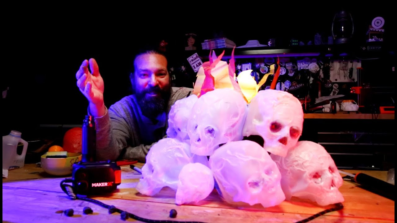 How To Make Skulls Using Old Milk Jugs And A Heat Gun