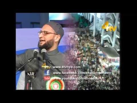 Janab Asaduddin Owaisi Sahab Addressing Jalsa-e-Rehmat Ul lil Alameen at Darussalam