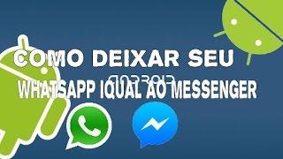 Whatsapp iqual o Messenger com bal?o flutuante