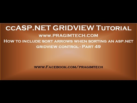 How to include sort arrows when sorting an asp net gridview