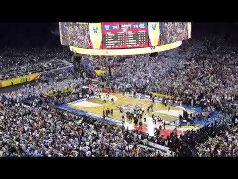 Crowd Reaction - UNC Marcus Paige 3 pointer - Villanova Kris Jenkins Game Winner - NRG Stadium