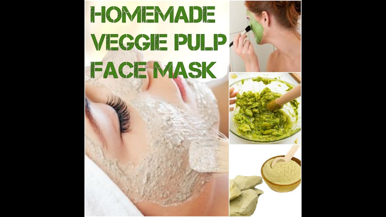 Homemade veg pulp facial mask