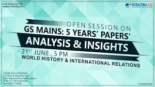 GS Mains: 5 Years' Papers | Analysis & Insights | World History & International Relations thumbnail