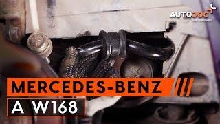 Kaip pakeisti Rėmas, stabilizatoriaus tvirtinimas MERCEDES-BENZ A-CLASS (W168) - internetinis nemokamas vaizdo