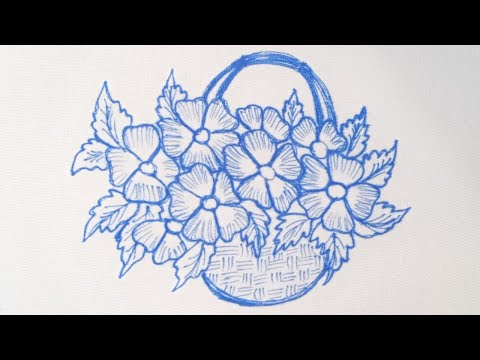 easy-hand-embroidery-flowers-design-tutorial-,-3d-hand-embroidery-design-using-basic-stitches