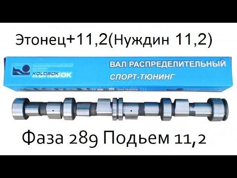 Распредвал Тюнинг ( Эстонец+) 11.2 (фаза 289) ИПК Колобок ( Нуждин )