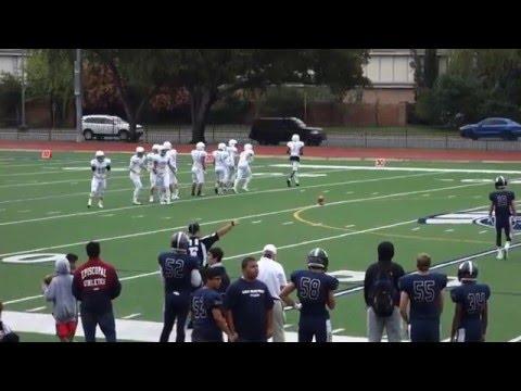 2015/10/31 - Junior, Mark Wright (#54) Oarkidge@ Episcopal School of Dallas - Kickoff/Touchback