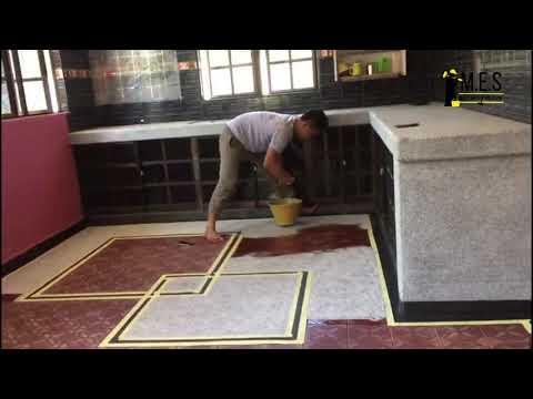 M.E.S - Kitchen Floor Epoxy Colour Flake Coating