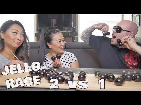KYOHO GRAPE JELLO RACE *SISTERS Vs *HUBBY (Funniest Race EVER!) | SASVlogs