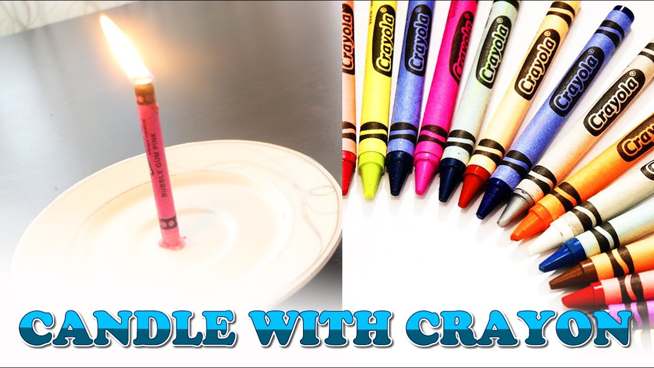 How to Make a Candle with a Wax Crayon - GENERAL ARTS AND CRAFTS ...