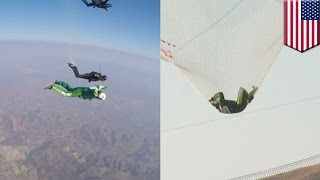 Skydive without parachute: Luke Aikins jumps 25,000 feet from plane without chute