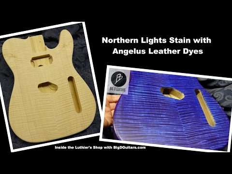 DIY PRS Northern Lights Guitar Stain with BigDGuitars & Angelus Leather Dyes