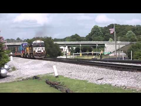 NORFOLK SOUTHERN TRAINS IN ATLANTA AND AUSTELL,GA. 7-18-2014