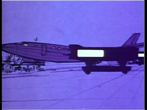 Washington Dulles IAD Mobile Lounge Concept Video from 1958