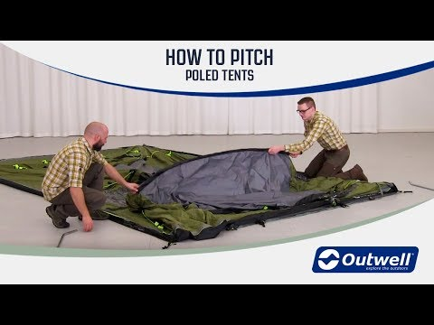 How to pitch an Outwell Tent with poles | Innovative Family Camping