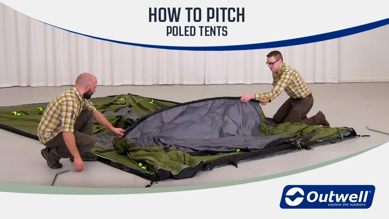 How to pitch an Outwell Tent with poles | Innovative Family C&ing & How to pitch an Outwell Tent with poles | Innovative Family ...