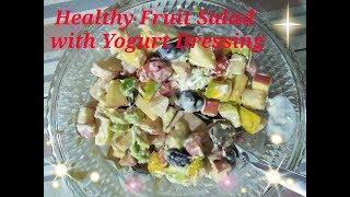 Healthy Fruit Salad with Yogurt Dressing