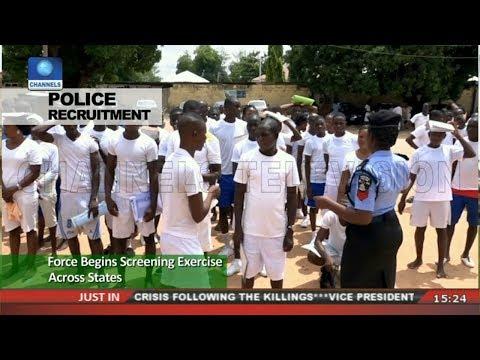 Nigeria police recruitment  screening date