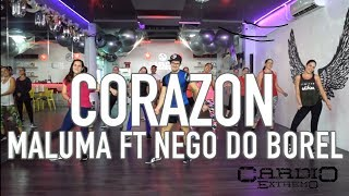 Corazon - Maluma ft Nego do Borel by Cesar James Coreo Zumba Cardio Extremo Cancun