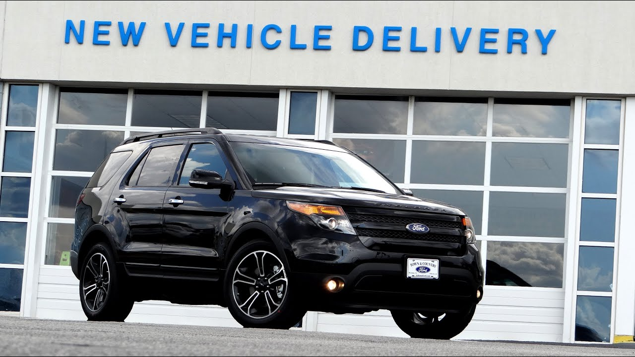 new 2014 ford explorer sport review and walkaround youtube - Ford Explorer Black 2015