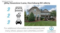 5 Bedroom Abbington Home | 3864 Hounslow Lane Harrisburg NC