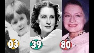 Norma Shearer ♕ Transformation From A Child To 80 Years OLD
