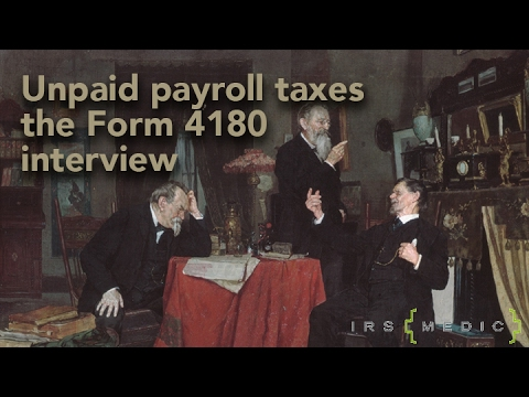 form 4180 Payroll Trust Fund Assessments and Form 4180 - YouTube