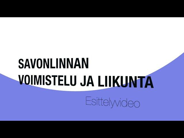 Yhdistys esittelyvideo: Savoli